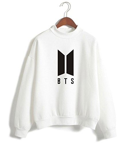 Pulls Sweats Sweatshirt Mignon BTS Femme KPOP A Top Love Blanc Fitting Fille Fans Cool Yourself SIMYJOY Loose qtYvPv
