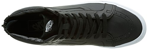 Vans Sk8-hi Reissue Zip Unisex-erwachsene Low-top Schwarz (pelle Premium / Nero / Bianco Reale)