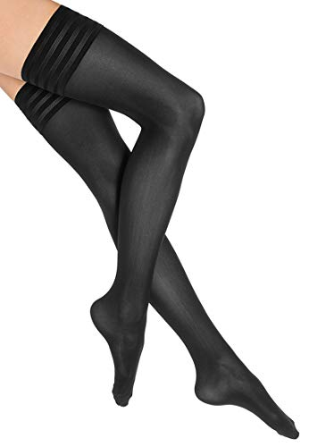 Wolford Women's Velvet De Luxe 50 Stay Up Tights, Black, Large