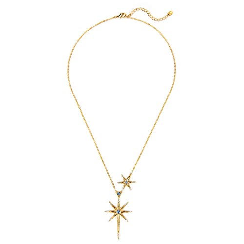 ACC PLANET Gold Star Pendant Necklace 18K Gold Plated Dainty Pendant Star Necklace for Women ()