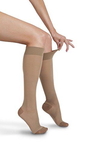 Price comparison product image GABRIALLA Sheer Knee Highs,  Compression (23-30 mmHg) Beige,  Medium
