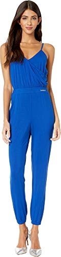 bebe Womens Spaghetti Strap Wrap Jogger Jumpsuit Surf The Web LG from bebe