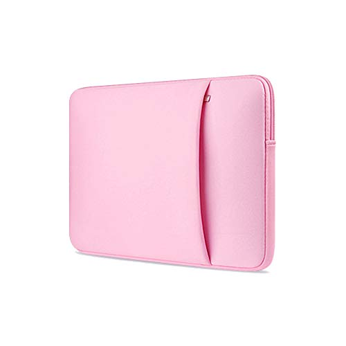 """ProElife 15-15.4"""" Slim Laptop Sleeve Case Bag Neoprene Carrying Protector Cover for MacBook Pro 15"""", Surface Book 2 15-Inch, 15-15.4"""" Dell HP Asus Acer Samsung Notebook Laptop (Pink)"""
