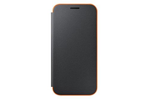 Original Official Samsung Galaxy A3 (2017) Neon Flip Cover Case - Black (EF-FA320PBEGWW) by Samsung