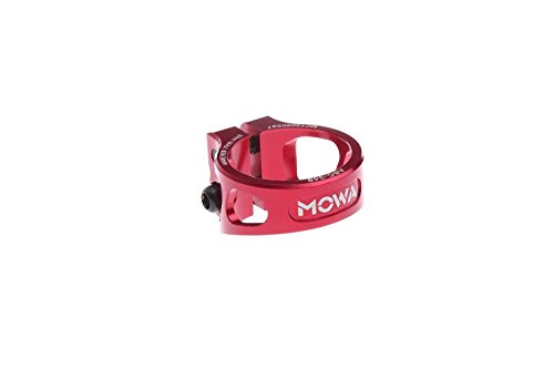 MOWA ASC Road Cyclocross CX Mountain Bicycle Mtb Bike Cycling Alloy Seatpost Clamp 31.8 and 34.9 (Red, (Bike Mtb Seatpost)