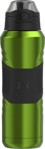 Under Armour Dominate 24 Ounce Vacuum Insulated Stainless Steel Bottle, Hyper Green