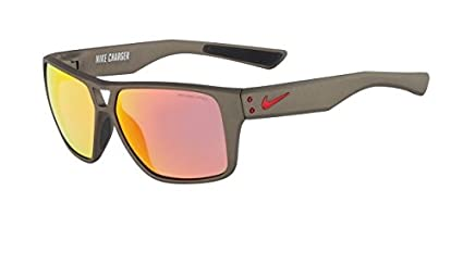 482b846c6a89e Nike Grey with Mild Flash Lens Charger R Sunglasses, Anthracite/Gym Red