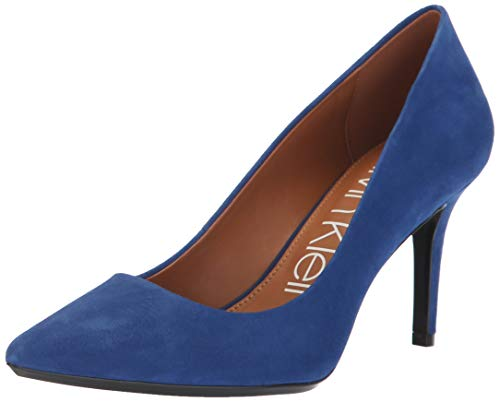 Blue Suede Pumps - Calvin Klein Women's Gayle Pump, Adrenaline Blue, 8 Medium US