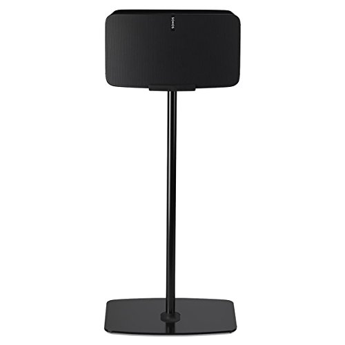 Flexson Floorstand for Sonos Play:5 Gen 2 in Black (Horizontal, Single) by Flexson