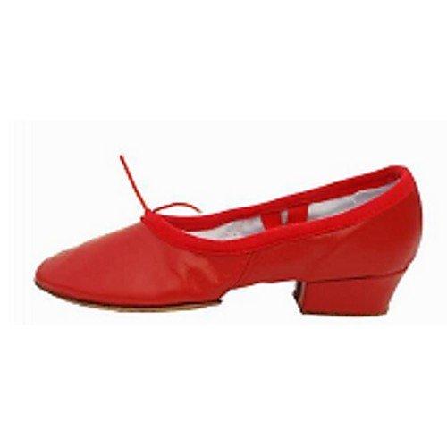 Rosa Tacón de de Sandalias Ballet Jazz Salsa Negro T Tango de Latinas Tacones Zapatos Rojo Rendimiento Q rojo Cuero T Practice Swing Baile Mujer Interior de bajo v7qtZwwT