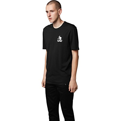 ALTAMONT Mens Moral Panic Short-Sleeve Shirt Medium Black
