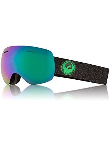 Dragon Alliance X1s Ski Goggles, Medium, Black, Split/Luma Green Ion Lens