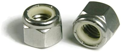 Nylon Lock Nut Nylock 18-8 Stainless Steel - 7/16-20 (.627 Flats x .324 Height) Qty-25
