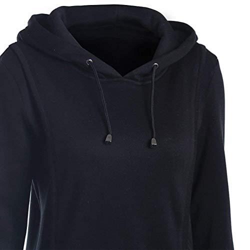 Femmes Taille Gris Pour À Oudan coloré Large Noir Veste Capuche FvUS6O