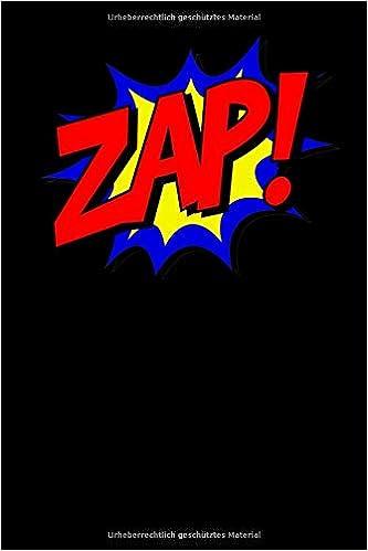 Weihnachten Termine.Zap Superhelden Comic Notizbuch Für Notizen Termine Skizzen