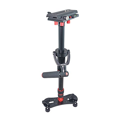 Bestshoot Kingjoy VS1047 Aluminum Alloy 43Inch Handheld Stabilizer Steadycam Monopod 3 Section Ajustable with 1/4 and 3/8 Screw for All Canon, Nikon, Sony..Sports Cameras and DV by Bestshoot (Image #7)