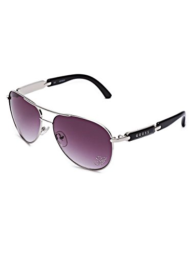 (GUESS Factory Women's Mirrored Tinted Aviator)
