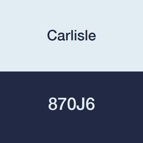 Carlisle High Performance Belt (CARLISLE 870J6 V-Ribbed Belts with 6 Ribs, J Section, Rubber, 0.552 Belt Width, 87.5
