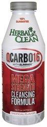 BNG Entreprises - Herbal Clean QCarbo16 avec Eliminex Mega Force Nettoyage Formule saveur tropicale - 16 oz