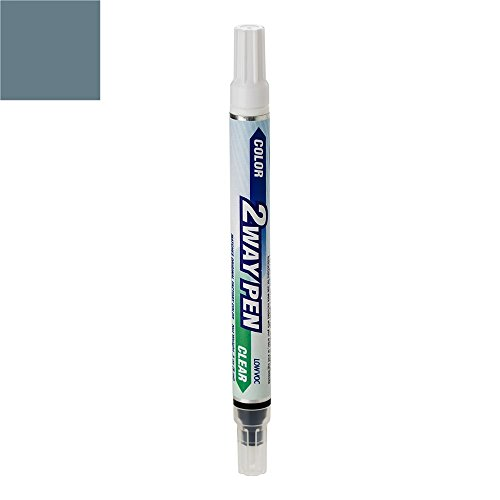 ExpressPaint 2WayPen - Automotive Touch-up Paint for Volvo S60 - Barents Blue Pearl Clearcoat 466 - Color + Clearcoat Only