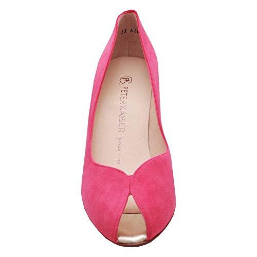 Suede Piel de Vestir de Kaiser para Zapatos Mujer Fushsia Peter R6OnHwxw