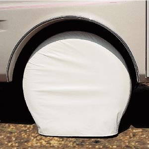 Adco 3974 Black Single Axle Ultra Tyre Gard Tire Wheel Cover 24-26'' set of 2 by ADCO