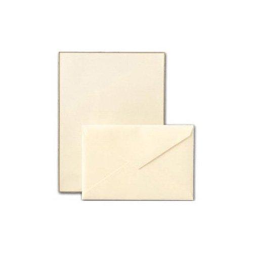 Letter Envelope 100 Sheets - Crane & Co. Gold Bordered Ecruwhite Letter Sheets (CH3216)