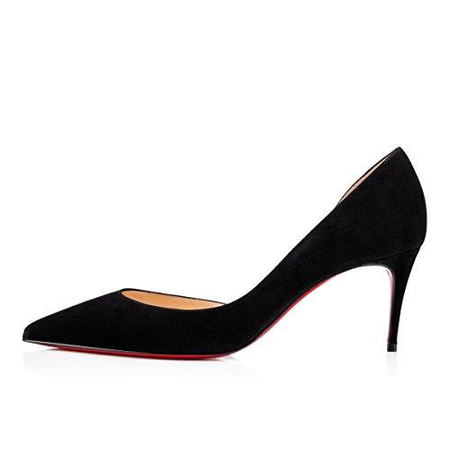 soirée Semelle Bout de Pointu Chaton Chaussures Side Escarpins Escarpins Black Cheville Talon Pan Femmes Sangles de Rouge de 65MM Caitlin Suede qfHw6vtI