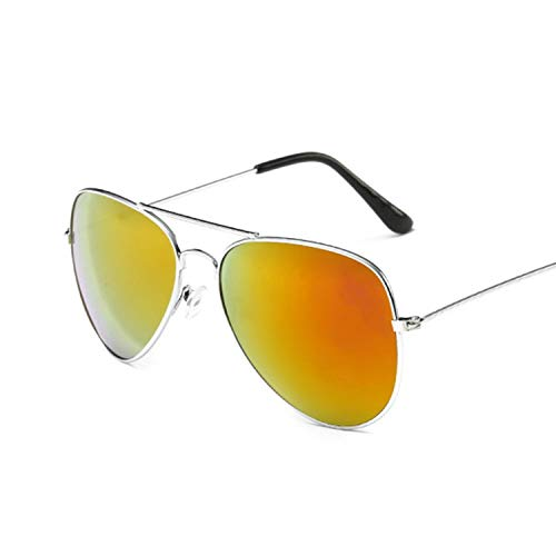 - Men'S Sunglasses Women Pilot Driving Male Female Sun Glasses Eyeglasses Uv400,Silver Red