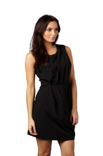 AX Paris Women's Sleeveless Shift Dress(Black, Size:4)