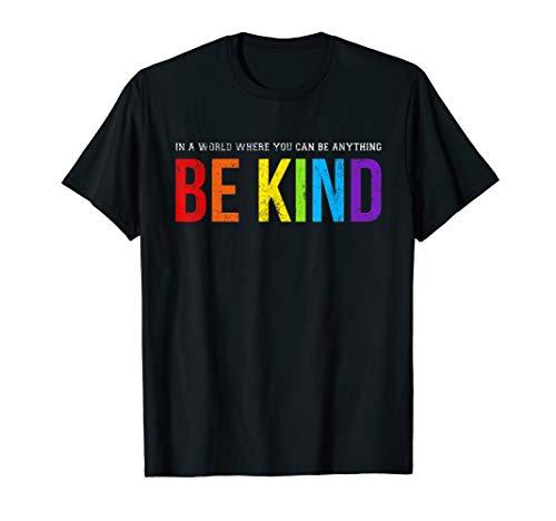 Straight T-shirt Rainbow - Be Kind Gay Les Pride Rainbow T-Shirt