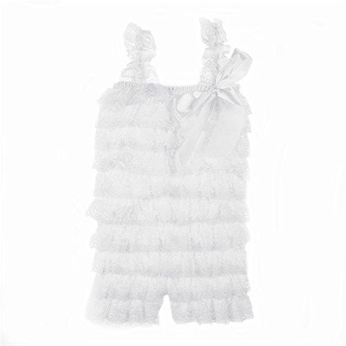 Kaiya Angel Baby Girl's Lace Romper White Size S