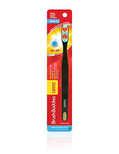 (Brush Buddies Caress Gum Care Ultra Soft Toothbrushes for Teeth and Gums)