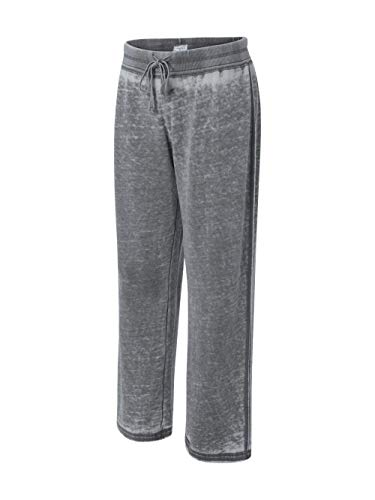 J America Ladies' Vanity Zen Fleece Sweatpant, 2XL, Dark Smoke