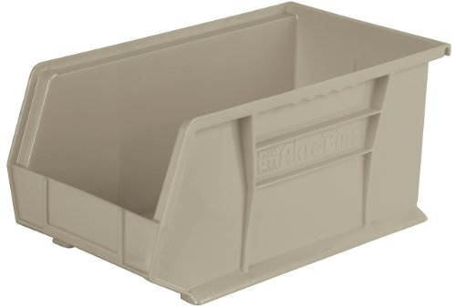 Akro-Mils 30240 Plastic Storage Stacking Hanging Akro Bin, 15-Inch by 8-Inch by 7-Inch, Stone, Case of 12