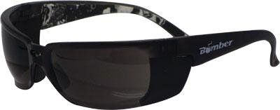 Bomber zf103 z-bomb safety sunglasses smoke w/smoke lens