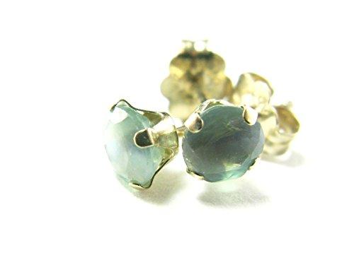 Genuine Russian Alexandrite Studs Earrings in 10k White Gold - 0.45 TCW - Russian Alexandrite Ring