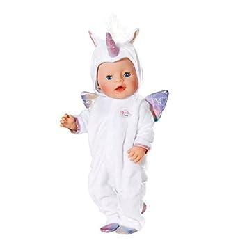 Zapf Baby Born Onesie Unicorn Juego de ropita para muñeca - Accesorios para muñecas (Juego