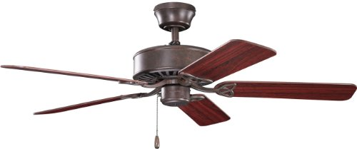 Kichler 330100TZ Renew 50IN Energy Star Ceiling Fan, Tannery Bronze Finish with Reversible Blades