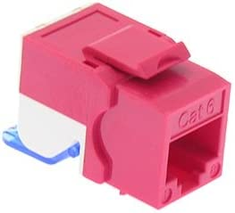 GOWOS Cat.6 Tool Less Keystone Jack Red