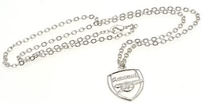 Valentines Day Birthdays Boys Boyfriends For Christmas A Great Gift // Present For Men Anniversaries Or Just As A Treat For Any Avid Football Fan Official Arsenal FC Silver Plated Pendant And Chain Dads Husbands Sons Fathers Day