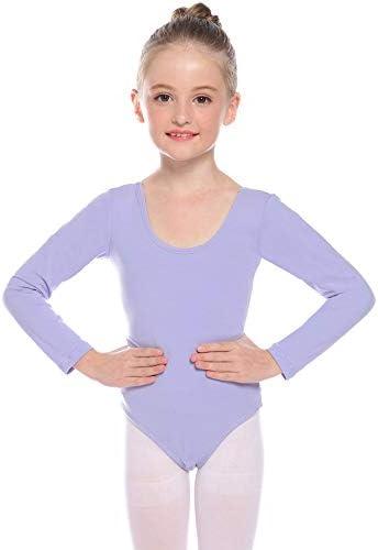 Magic Town Girls Leotard Long Sleeve Unitard Ballet Dance Gymnastics Cotton Bodysuit