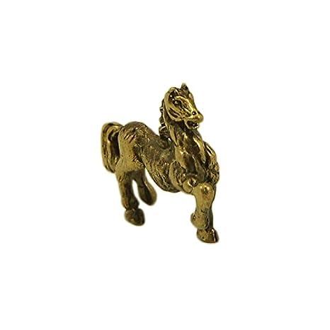 Amazon.com: Caballo bronce figura estatuilla hecha a mano ...