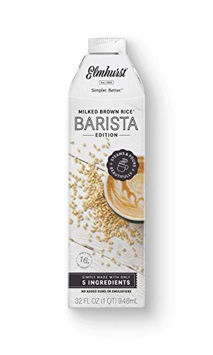 6pk Elmhurst Barista - Milked Brown Rice - 32 oz - Only 5 Ingredients, 16g Whole Grain per Serving - Rice Milk
