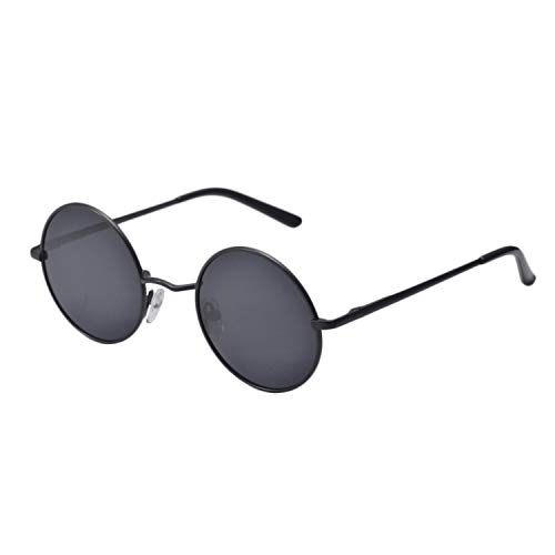 New Brand Designer Classic Polarized Round Sunglasses Men Small Vintage Retro John Lennon Glasses Women Driving Metal Eyewear,black - John Airport Lennon