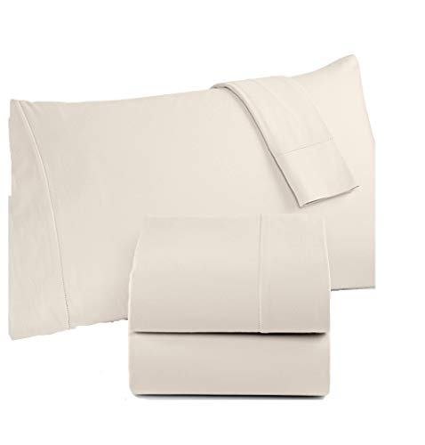 Martha Stewart Collection Luxury Flannel Sheet Set (Full, Pearl) ()