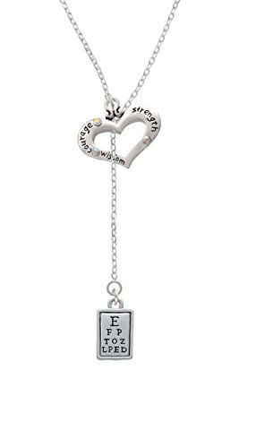 Eye Chart - Courage Strength Wisdom Heart Lariat Necklace (Chart Jewelry compare prices)