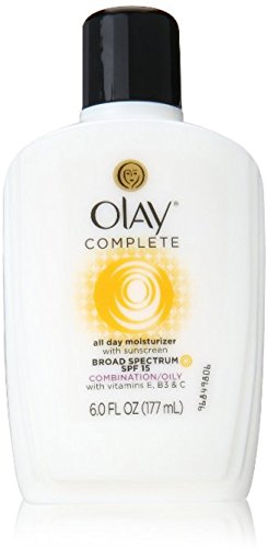 OLAY Complete All Day Moisturizer with Broad Spectrum SPF 15, Combination/Oily 6 oz (Pack of 12)