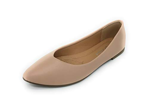 Sole Collection Women's Pointed Toe Classic Comfortable Cute Ballet Slip on Flats (10 M US, 85BG) ()