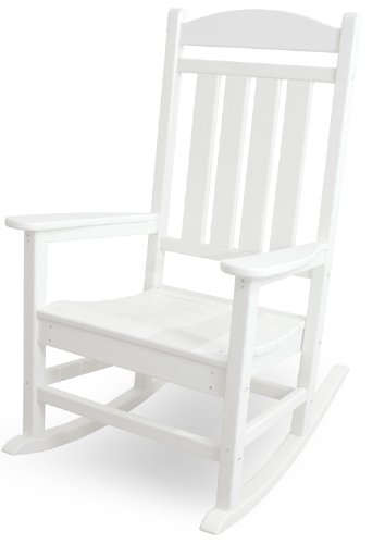POLYWOOD R100WH Presidential Rocking Chair, White (Best Front Porch Rockers)